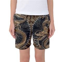 Dragon Pentagram Women s Basketball Shorts
