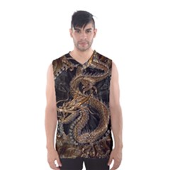 Dragon Pentagram Men s Basketball Tank Top