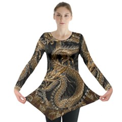 Dragon Pentagram Long Sleeve Tunic