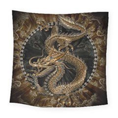 Dragon Pentagram Square Tapestry (large)