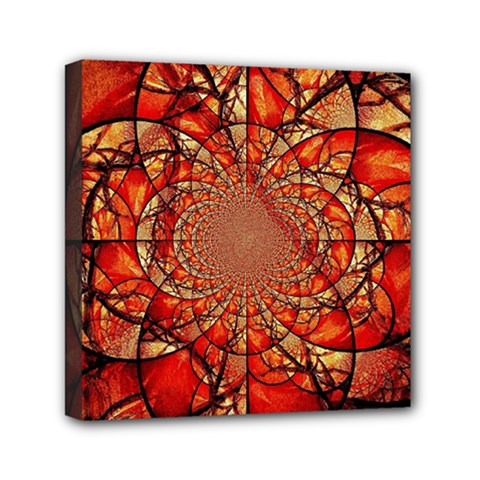 Dreamcatcher Stained Glass Mini Canvas 6  X 6
