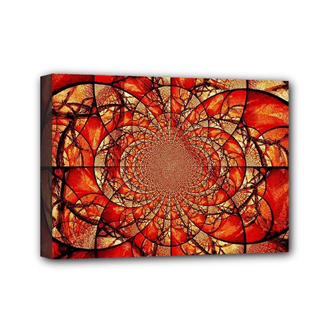 Dreamcatcher Stained Glass Mini Canvas 7  X 5