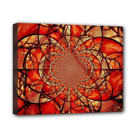 Dreamcatcher Stained Glass Canvas 10  X 8