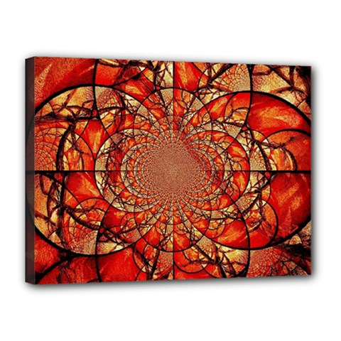Dreamcatcher Stained Glass Canvas 16  X 12