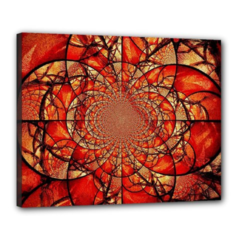 Dreamcatcher Stained Glass Canvas 20  x 16