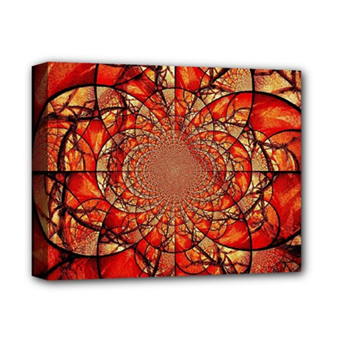 Dreamcatcher Stained Glass Deluxe Canvas 14  x 11