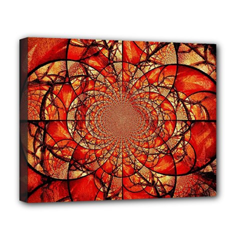 Dreamcatcher Stained Glass Deluxe Canvas 20  x 16