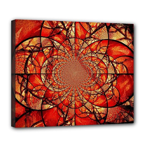 Dreamcatcher Stained Glass Deluxe Canvas 24  X 20