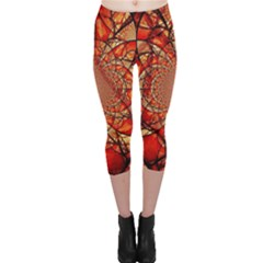 Dreamcatcher Stained Glass Capri Leggings
