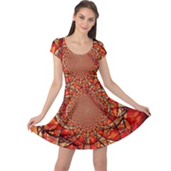 Dreamcatcher Stained Glass Cap Sleeve Dresses