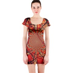 Dreamcatcher Stained Glass Short Sleeve Bodycon Dress