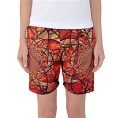 Dreamcatcher Stained Glass Women s Basketball Shorts