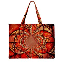 Dreamcatcher Stained Glass Large Tote Bag