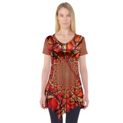 Dreamcatcher Stained Glass Short Sleeve Tunic