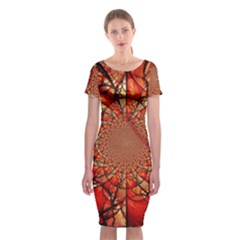 Dreamcatcher Stained Glass Classic Short Sleeve Midi Dress