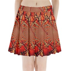 Dreamcatcher Stained Glass Pleated Mini Skirt