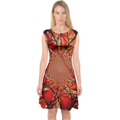 Dreamcatcher Stained Glass Capsleeve Midi Dress