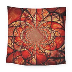 Dreamcatcher Stained Glass Square Tapestry (large)