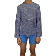Excellent Seamless Slate Stone Floor Texture Kids  Long Sleeve Swimwear