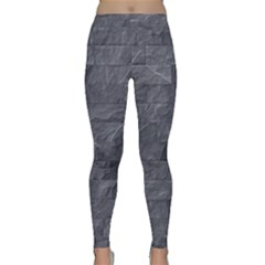 Excellent Seamless Slate Stone Floor Texture Classic Yoga Leggings