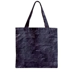 Excellent Seamless Slate Stone Floor Texture Zipper Grocery Tote Bag