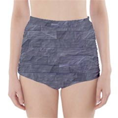 Excellent Seamless Slate Stone Floor Texture High Waisted Bikini Bottoms