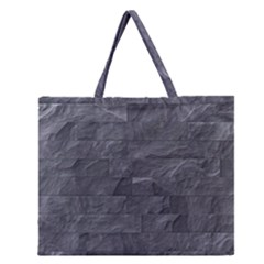 Excellent Seamless Slate Stone Floor Texture Zipper Large Tote Bag