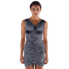 Excellent Seamless Slate Stone Floor Texture Wrap Front Bodycon Dress