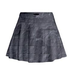 Excellent Seamless Slate Stone Floor Texture Mini Flare Skirt