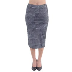 Excellent Seamless Slate Stone Floor Texture Midi Pencil Skirt