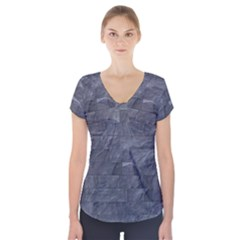 Excellent Seamless Slate Stone Floor Texture Short Sleeve Front Detail Top