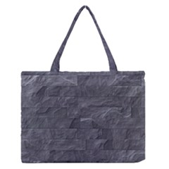Excellent Seamless Slate Stone Floor Texture Medium Zipper Tote Bag