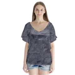 Excellent Seamless Slate Stone Floor Texture Flutter Sleeve Top