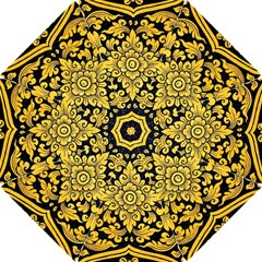 Flower Pattern In Traditional Thai Style Art Painting On Window Of The Temple Hook Handle Umbrellas (small)