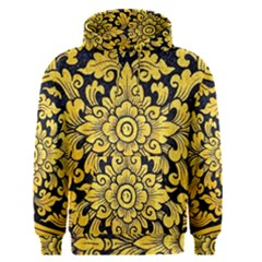 Flower Pattern In Traditional Thai Style Art Painting On Window Of The Temple Men s Pullover Hoodie