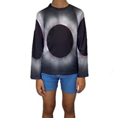 Solar Eclipse Kids  Long Sleeve Swimwear