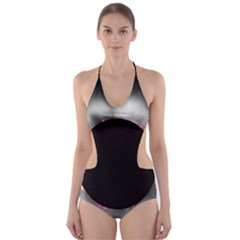 Solar Eclipse Cut Out One Piece Swimsuit