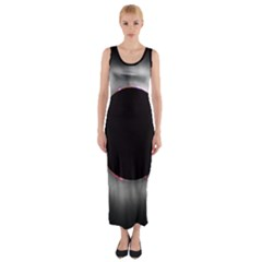 Solar Eclipse Fitted Maxi Dress