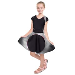 Solar Eclipse Kids  Short Sleeve Dress