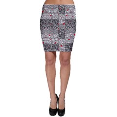 Sribble Plaid Bodycon Skirt
