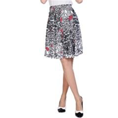 Sribble Plaid A-Line Skirt