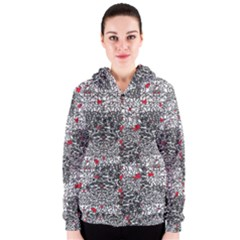 Sribble Plaid Women s Zipper Hoodie