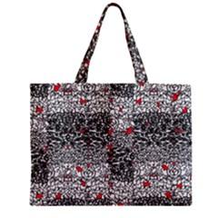 Sribble Plaid Zipper Mini Tote Bag