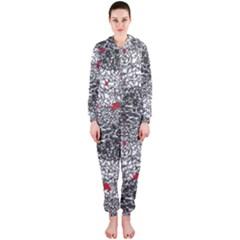 Sribble Plaid Hooded Jumpsuit (ladies)