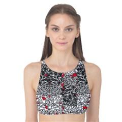 Sribble Plaid Tank Bikini Top