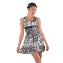 Sribble Plaid Cotton Racerback Dress
