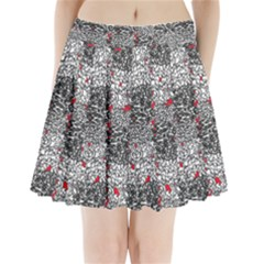 Sribble Plaid Pleated Mini Skirt