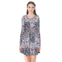 Sribble Plaid Flare Dress