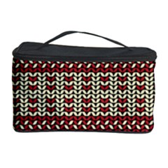 Stitched Seamless Pattern With Silhouette Of Heart Cosmetic Storage Case