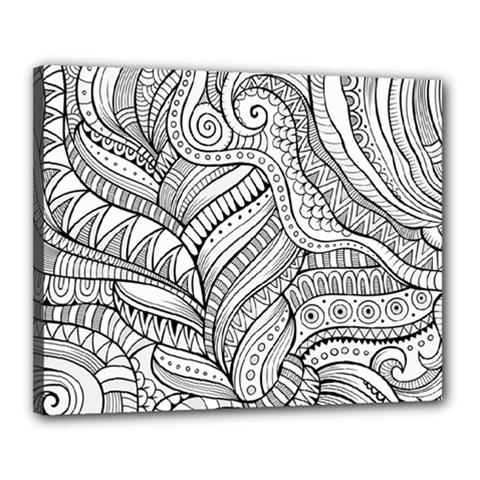 Zentangle Art Patterns Canvas 20  x 16